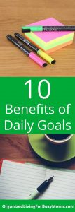 10 Benefits Daily Goals